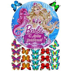 Вафельная картинка Барби