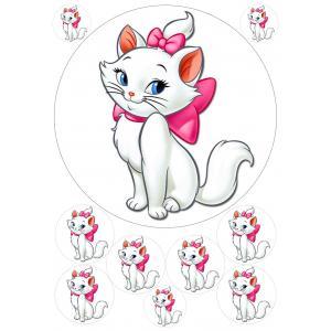 Вафельная картинка Кошка Мари