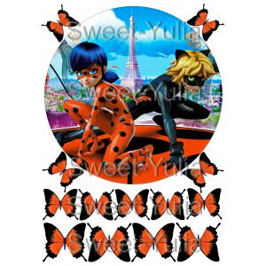 Вафельная картинка Леди Баг и Супер Кот