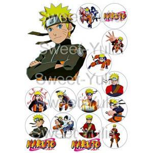 Вафельная картинка Наруто герои капкейки