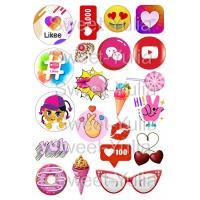 Вафельная картинка Социальные сети значки